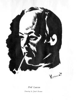Drawing of Fred Lawson by Jacob Kramer