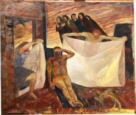 Lazurus.  1980. Oil on Canvas.  152cm x 184cm