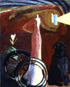 Guardian I  Oil on Canvas 1994. Birminham University Commission. 152x124cm
